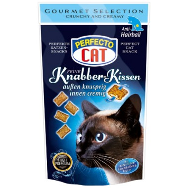 Perfecto cat Knabber-Kissen anti-hairball, traškios pagalvėlės skatinančios plaukų pasišalinimą