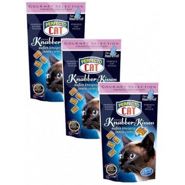 Perfecto cat Knabber-Kissen, traškios pagalvėlės kailiui ir odai