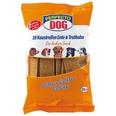 PERFECTO DOG juostelės su antiena ir kalakutiena, 20vnt. 200g