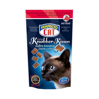 PERFECTO CAT, Knabber-Kissen su jautiena50g