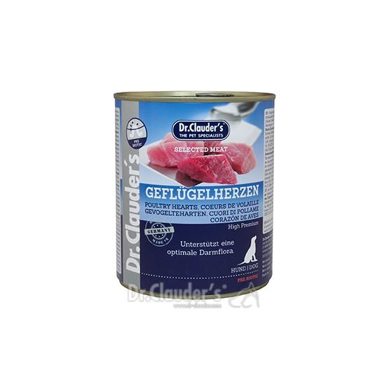 Dr. Clauder's drėgnas maistas šunims su paukščių širdelėmis ir prebiotikais