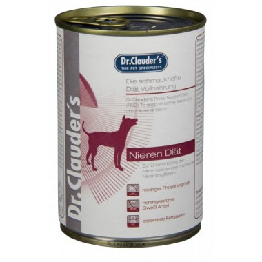 "Dr. Clauder's ""Kidney diet"" drėgnas maistas inkstų problemų turintiems šunims"