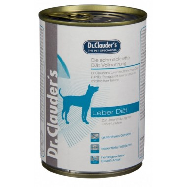 "Dr. Clauder's ""Liver diet"" drėgnas maistas kepenų problemų turintiems šunims"
